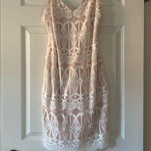 Leith White Lace Minidress